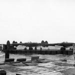 P-38 Lightning Fighters Barged ashore at Manila Docks 8 May 1945