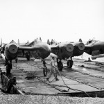 P-38 Lightning Fighters Barged ashore at Manila Docks 8 May 1945 2