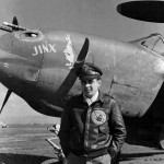 "P-38 Lightning ""Jinx"" pilot Col Robert Richard 1st Fighter Group commander"