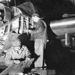 P-38 Lightning Maintenance Burtonwood England 2