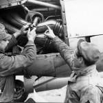 P-38 Lightning Maintenance Burtonwood England engine