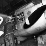P-38 Lightning Maintenance Burtonwood England engine 2