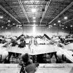 P-38 Lightning Maintenance Burtonwood England rear