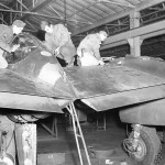 P-38 Lightning Maintenance Burtonwood England rear 2