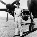 P-38 Lightning and pilot Lt Anthony Evans 49th FS 14th FFighter Group