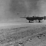 P-38 Lightning landing in Algeria