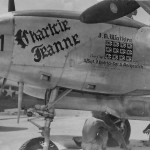 P-38 Lightning Nose Art Charlcie Jeanne Pilot Lt. James Watkins
