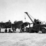P-38 Lightning undergoing ground service North Africa