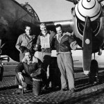 Pilot And His Ground Crew Of the 94th FS 1st FG Lockheed P-38 Lightning Italy