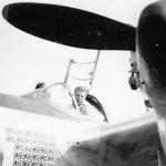 """Pilot Richard Bong Posed in P-38 Lightning s/n 42-104380 """"Marge"""""""