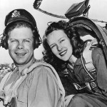 Pilot Richard Bong and Wife in His P-38 Lightning 1944