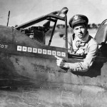 Ace Col Robert Scott 23rd Fighter Group In Cockpit of P-40K in China 1944