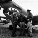 Col Bennett And Maj C.H. Yaun Group Commanding Officers Of A Fighter Group Of The Chinese American Composite Wing