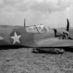 Curtiss P-40 after forced landing at El Saff Egypt on 22 February 1943