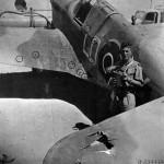 Damaged Kittyhawk of No. 250 Squadron RAF 1943