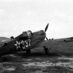 December 7, 1941 Wrecked P-40 #337 at Belows Field 2