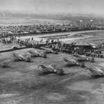 Early B-24 Liberator Bomber and Curtiss P-40 fighters in Tulsa 1941