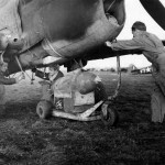 Ground Crewmen Ready To Load A 500 Lb Bomb Under The Belly a P-40 of the 79th Fighter Group Capodichino Italy