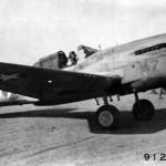 Maj Salisbury 57th Fighter Group warms up his Curtiss P-40 Warhawk prior to take off Burg El Arab North Africa