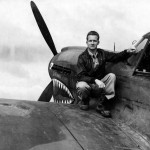 P-40E 41-36381 pilot 1lt Llewellyn H Couch 16th FS 23rd Fighter Group.