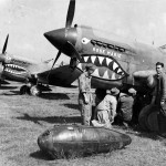 "P-40E named ""Rose Marie"" 16th Fighter Squadron 23rd Fighter Group 21 October 1942"