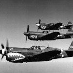 P-40 Formation AAF Tactical Center in flight during World War II