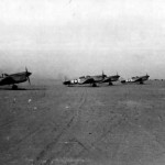 P-40 Warhawks Taxi Up To The Take Off Line At An Airbase Near Burg El Arab Somewhere In North Africa