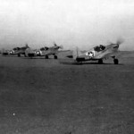 P-40 Warhawks Taxi Up To The Take Off Line Near Burg El Arab North Africa October 1942