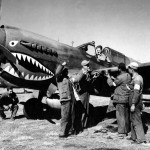 P-40 and Chinese Soldiers And Armorers Of The 74th Fighter Squadron 23rd Fighter Group China