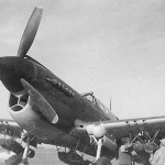 P-40 as fighter bomber loaded with 6 250 lb bombs Africa
