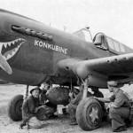 """P-40 """"Konkubine"""" carry 1000 lb bomb 1943"""