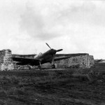 P-40 of the 2nd Service Group Parked In A Revetment Iceland