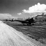 "P-40 of the 44th FS ""Vampires"" 18th Fighter Group Munda airstrip August 1943"
