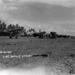 P-40 of the 9th Fighter Squadron Iron Knights 49th FG Lined Up Along The Runway At 30 Mile Strip In Port Moresby Papua New Guinea