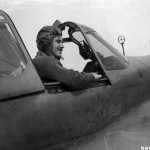 P-40 pilot of the 9th AF 57th Fighter Group in his plane ready for take off North Africa
