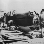 RAF Unit Assembling Curtiss P-40 Tomahawk in Middle East