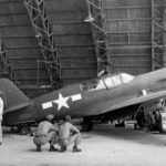 5th AF P-40 Warhawk in hangar at Port Moresby '42