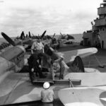 P-40K on board USS Chenango October 1942 2