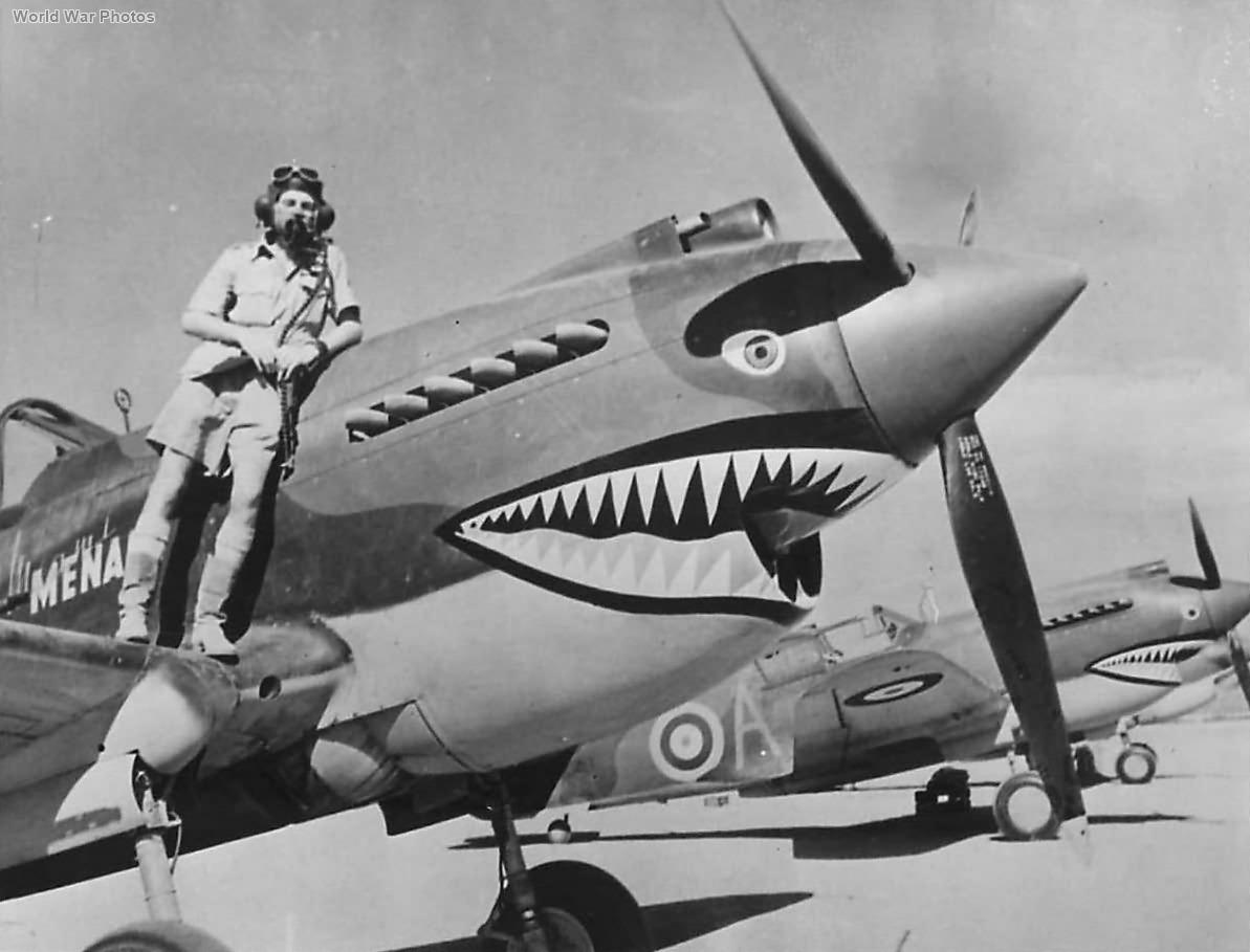 Flt Lt Neville Bowks Bowker from 112 Squadron