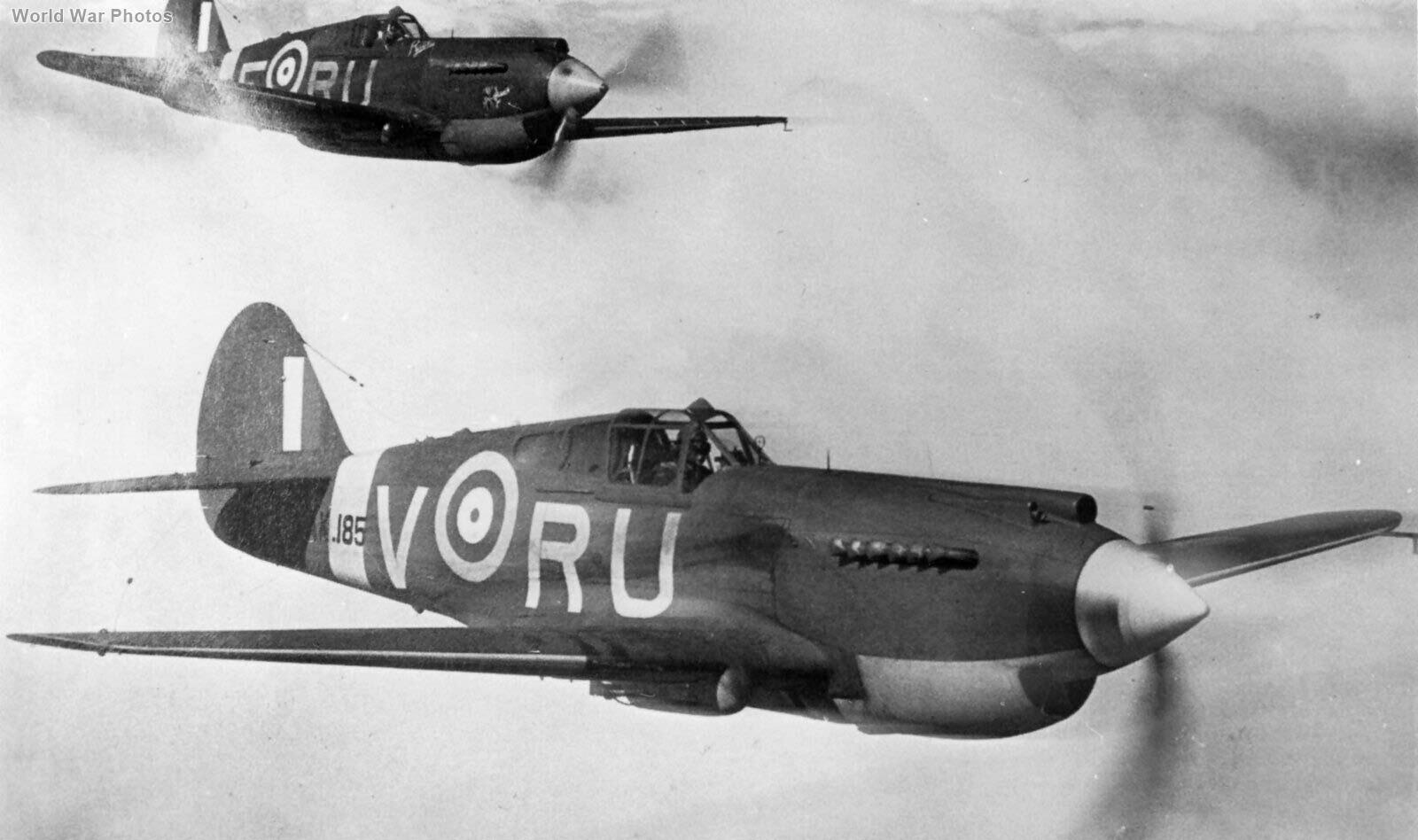 Tomahawk IIB AK185 RU-V of 414 Sqn RCAF
