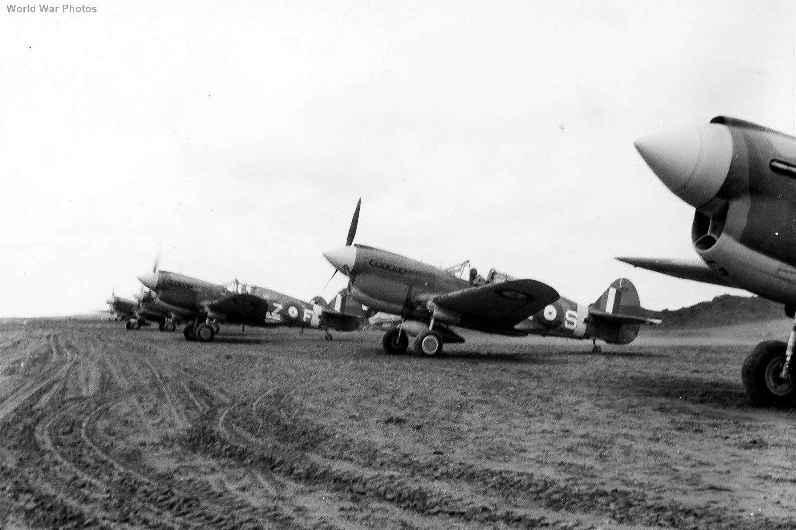 Canadian 111 Squadron Kittyhawks at Cold Bay May 1942
