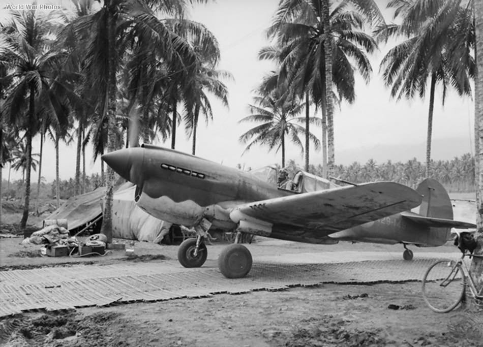 Kittyhawk Mk IA/P-40E A29-149 of 75 Squadron RAAF at Milne Bay September 1942