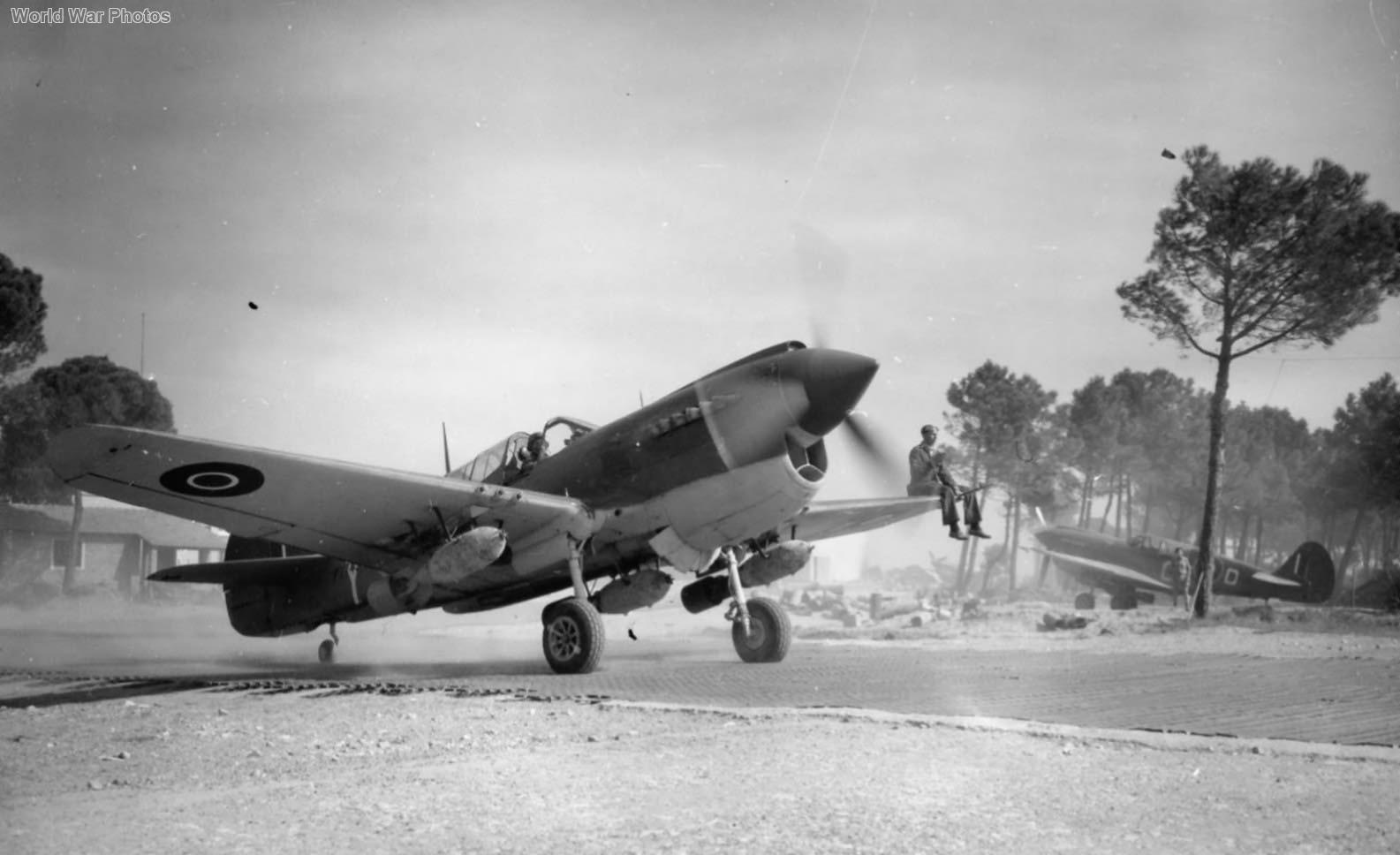 Kittyhawk Mk IV FX745 OK-Y of No. 450 Squadron RAAF, Cervia, Italy