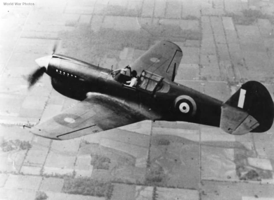 Curtiss Kittyhawk Mk IA in flight