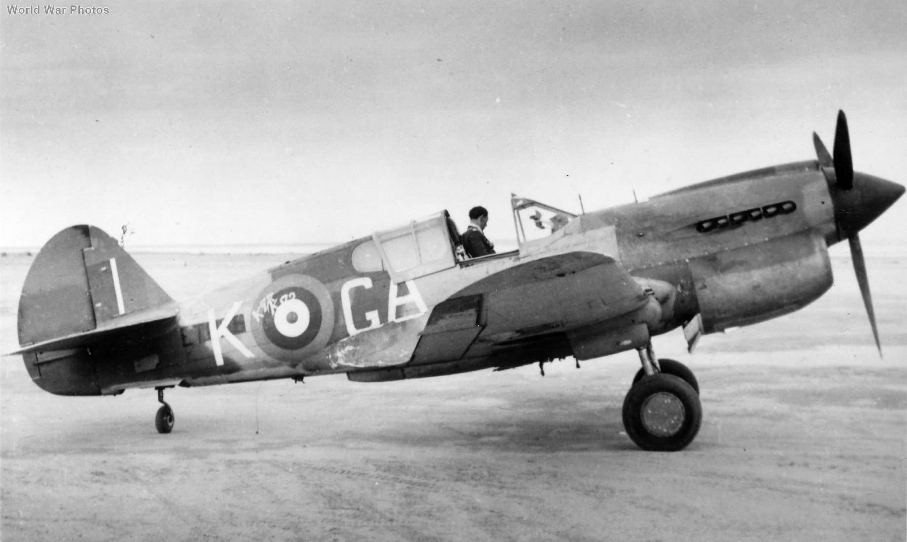 Kittyhawk Mk IA GA-K of No. 112 Squadron RAF