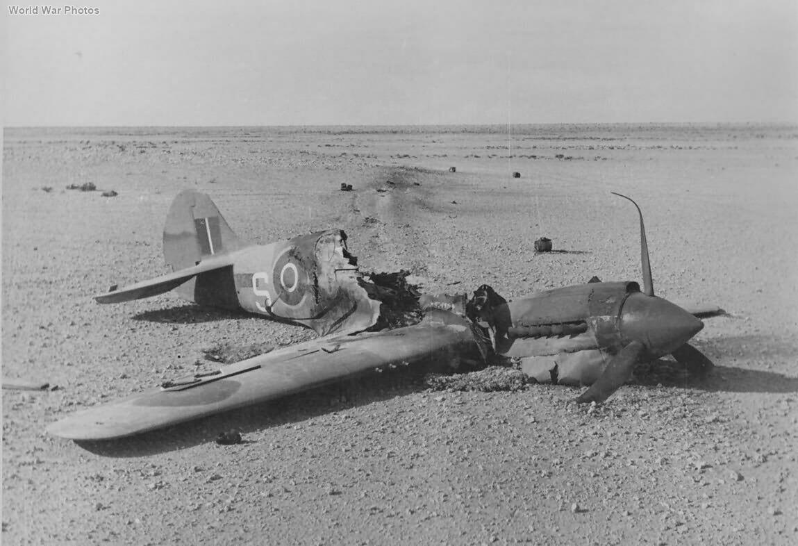 Destroyed Kittyhawk Mk III Africa