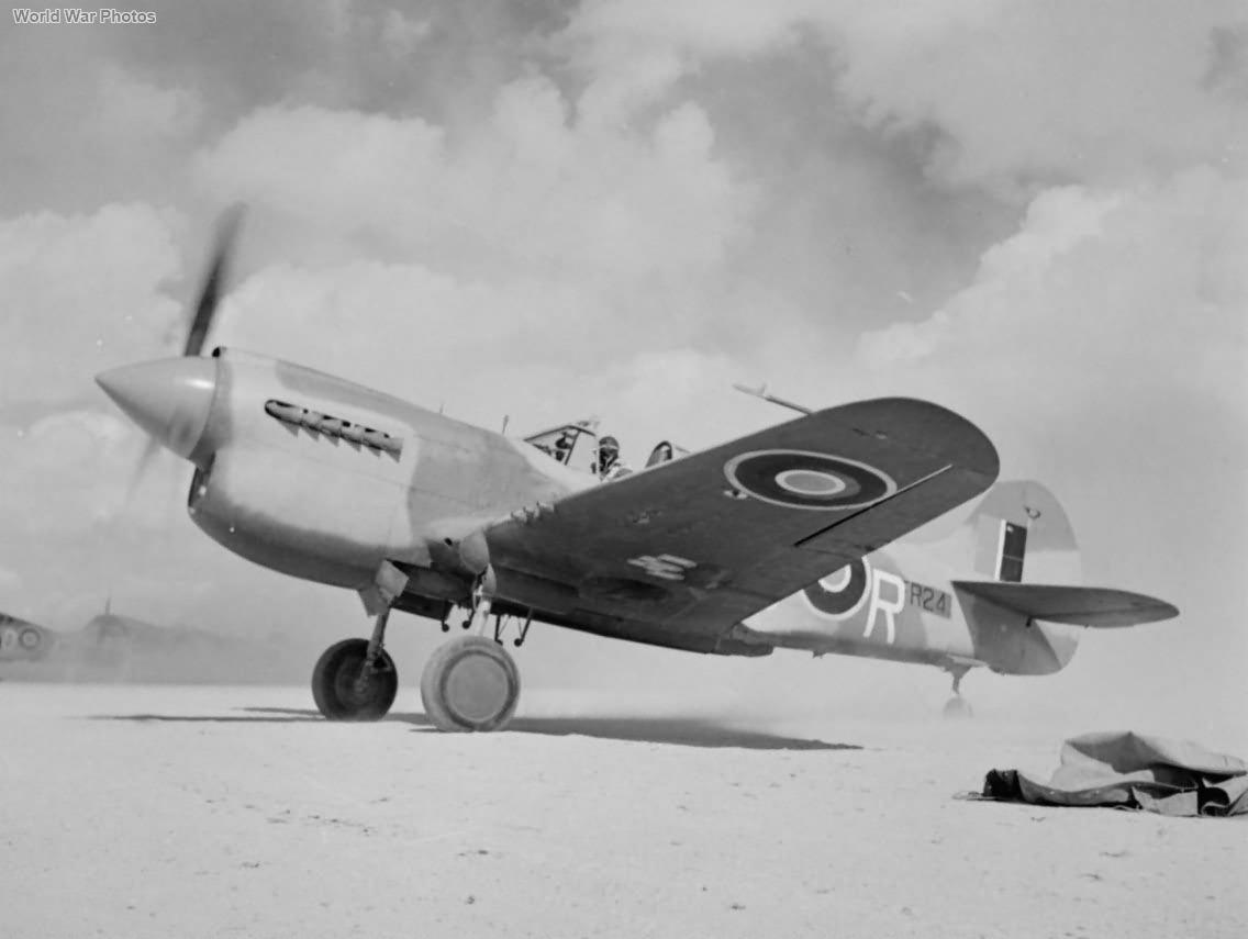 Kittyhawk Mk III FR241 LD-R of No. 250 Squadron RAF 1942
