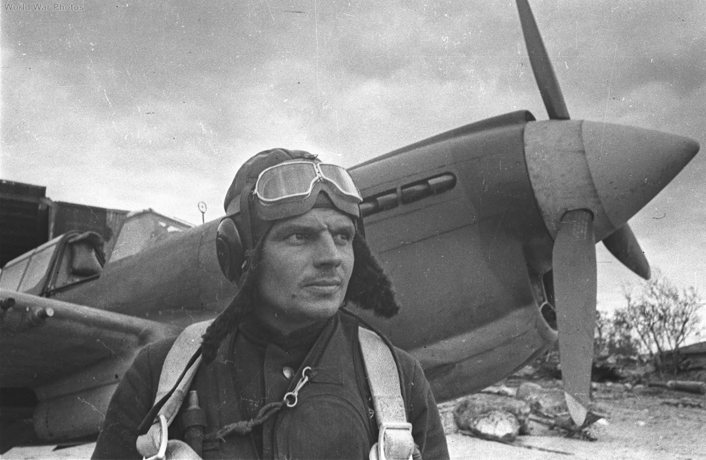 Soviet P-40 and pilot Kovalienko