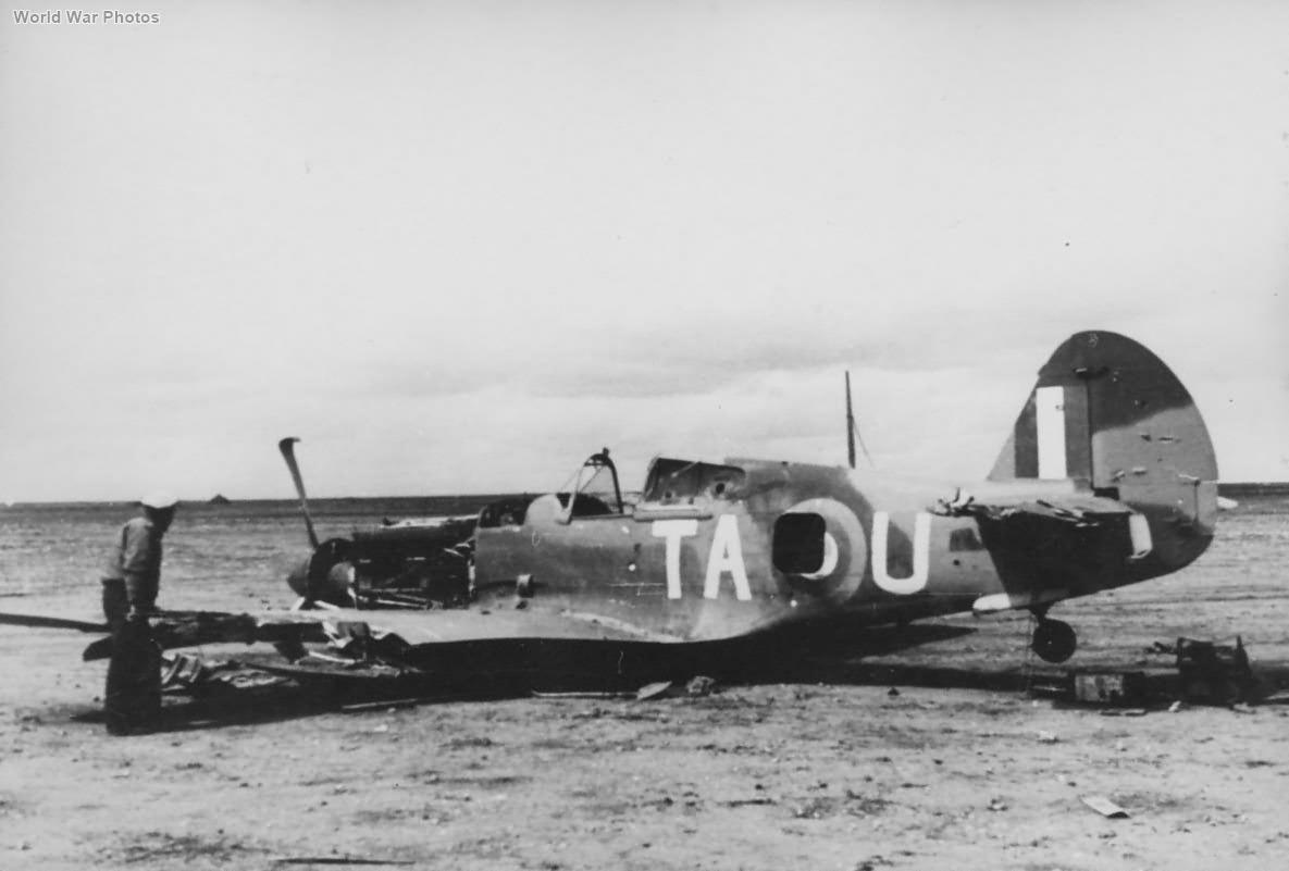 Crashed Tomahawk TA-U of 2 Squadron SAAF