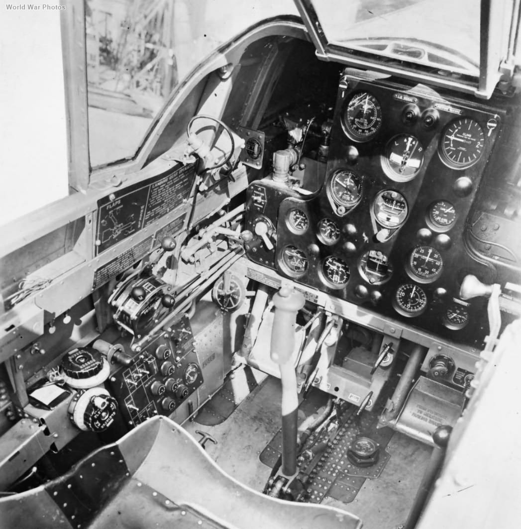 Tomahawk Mk IIB AK184 cockpit interior